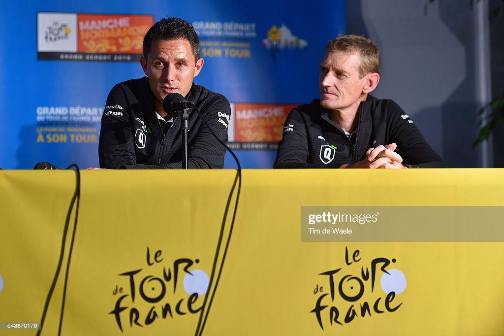 103th Tour de France 2016 / PC Team Dimension Data Douglas RYDER (RSA) Team Manager / Rolf ALDAG (GER) Technical Director / Press Conference Team Dimension Data (RSA)/ TDF /