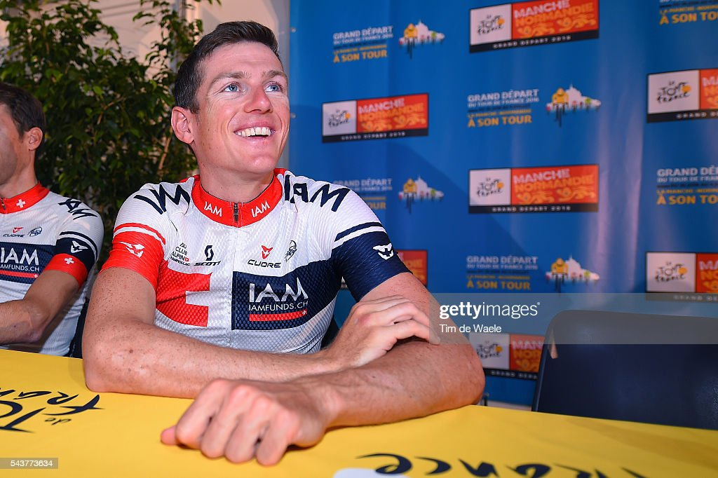 103th Tour de France 2016 / PC Team IAM Mathias FRANK (Sui)/ Martin ELMINGER (Sui)/ Press Conference Team IAM Cycling (Sui) / TDF /