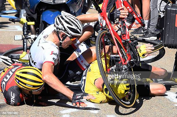 103th Tour de France 2016 / Stage 12 Christopher FROOME Yellow Leader Jersey / Bauke MOLLEMA / Richie PORTE / Crash / Tv / Montpellier Mont Ventoux...