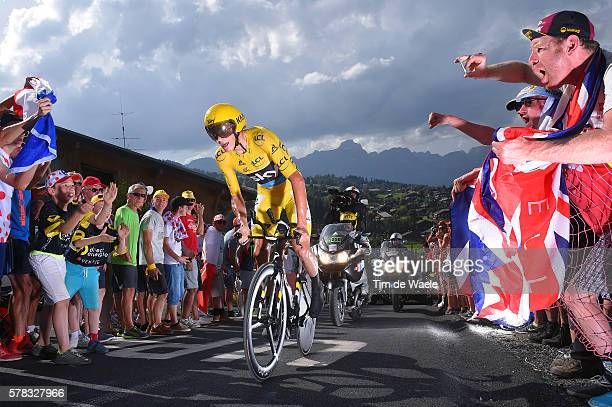 103th Tour de France 2016 / Stage 18 Christopher FROOME Yellow Leader Jersey / Fans / Public / Sallanches Megeve 1095m / Time Trial ITT / TDF /