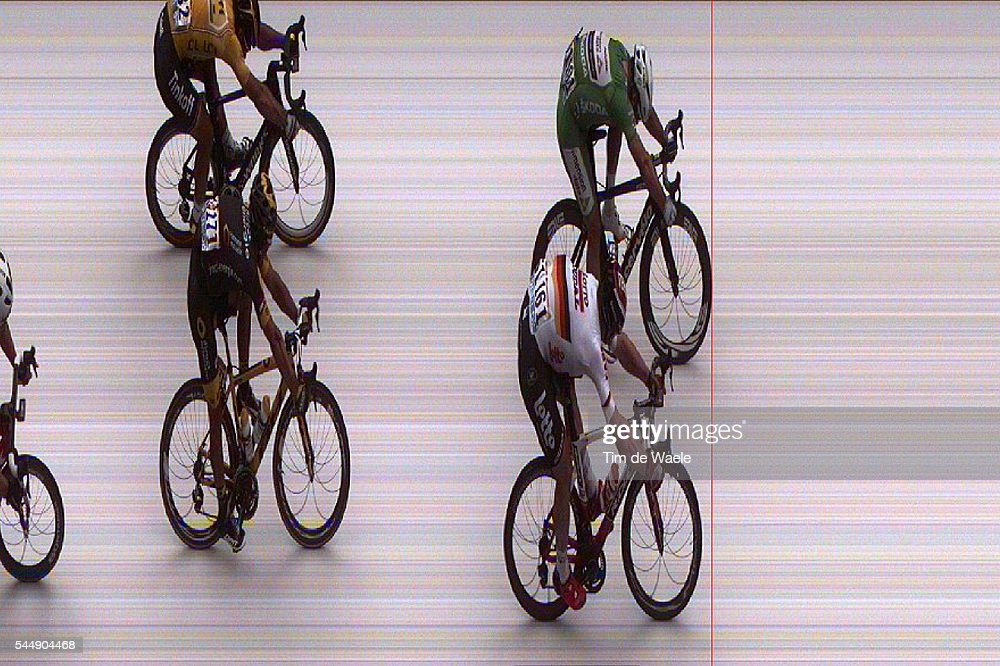 103th Tour de France 2016 / Stage 3 Arrival / Sprint / Andre GREIPEL (GER)/ Mark CAVENDISH (GBR) Green Points Jersey/ Peter SAGAN (SVK) Yellow Leader Jersey / Bryan COQUARD (FRA)/ Photofinish / Photo credit ASO free of rights/ Granville - Angers (223,5km)/ TDF /