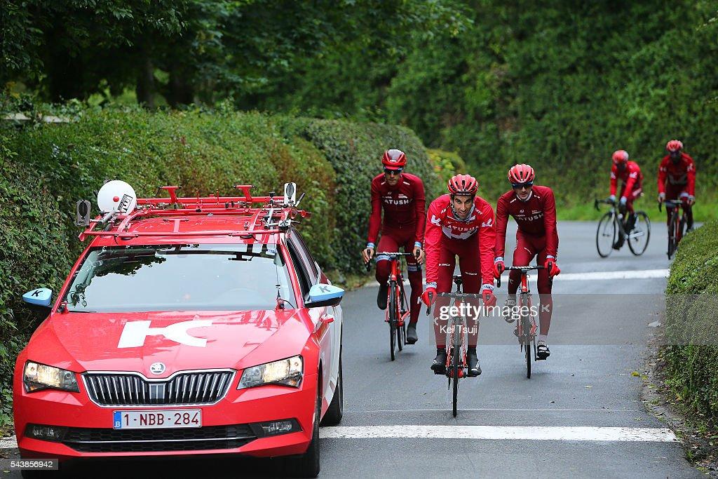 103th Tour de France 2016 / Training Team Katusha Alberto LOSADA (ESP)/ Team Car / Team Katusha (RUS)/ Training Team Katusha (RUS)/ TDF /