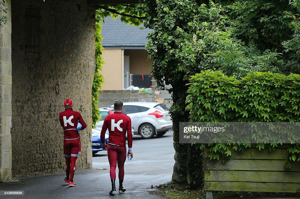 103th Tour de France 2016 / Training Team Katusha Illustration / Team Katusha (RUS)/ Marco HALLER (AUT)/ Training Team Katusha (RUS)/ TDF /