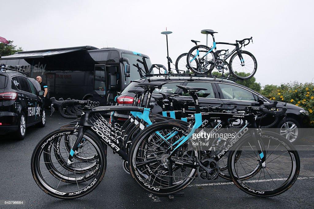 103th Tour de France 2016 / Training Team Sky Illustration / Pinarello Bikes / Team Sky (GBR)/ Training Team Sky (GBR) / TDF /