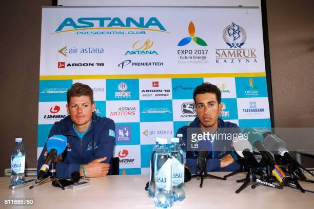 104th Tour de France 2017 / PC Team Astana Pro Team Fabio ARU / Jakob FUGLSANG / Team Astana Pro Team / Press Conference/ Rest Day/ TDF/