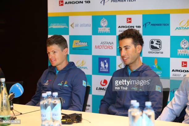 104th Tour de France 2017 / PC Team Astana Pro Team Jakob FUGLSANG / Fabio ARU / Press Conference / Team Astana Pro Team / TDF /