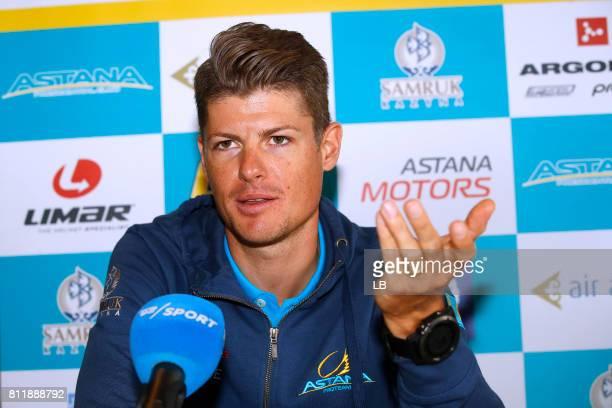 104th Tour de France 2017 / PC Team Astana Pro Team Jakob FUGLSANG / Team Astana Pro Team / Press Conference/ Rest Day/ TDF/