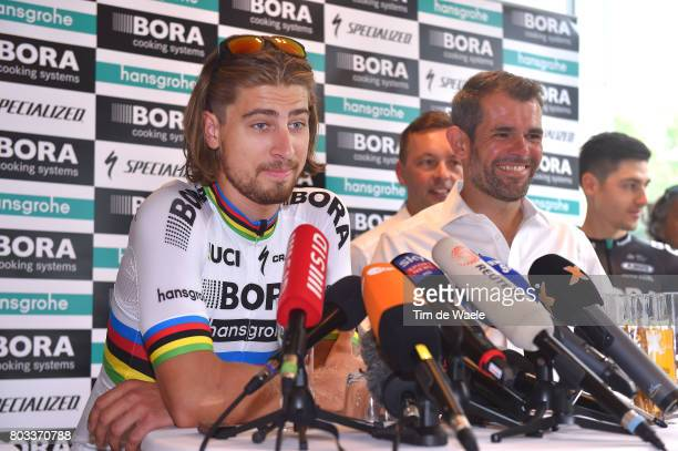 104th Tour de France 2017 / PC Team BORA hansgrohe Peter SAGAN / Ralph DENK Team Manager / Press Conference/ Team BORA hansgrohe / TDF/
