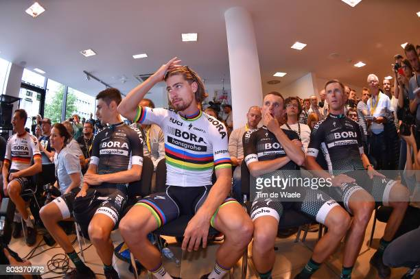 104th Tour de France 2017 / PC Team BORA hansgrohe Rafal MAJKA / Maciej BODNAR / Peter SAGAN / Emanuel BUCHMANN / Marcus BURGHARDT / Press...