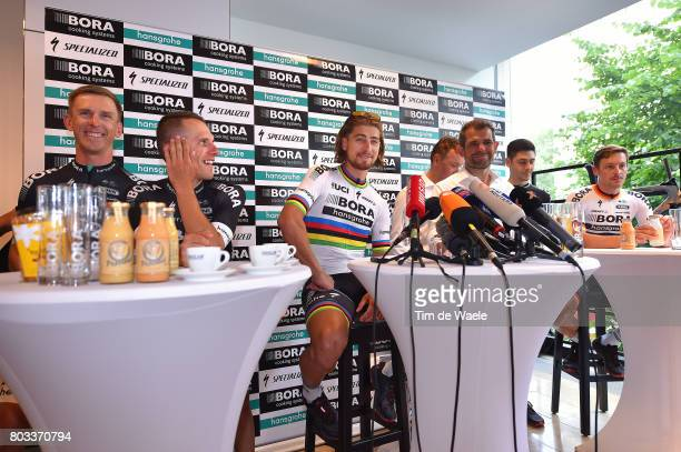 104th Tour de France 2017 / PC Team BORA hansgrohe Rafal MAJKA / Maciej BODNAR / Peter SAGAN / Ralph DENK Team Manager / Emanuel BUCHMANN / Marcus...