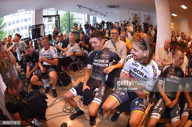 104th Tour de France 2017 / PC Team BORA hansgrohe Rafal MAJKA / Peter SAGAN / Emanuel BUCHMANN / Marcus BURGHARDT / Press Conference/ Team BORA...