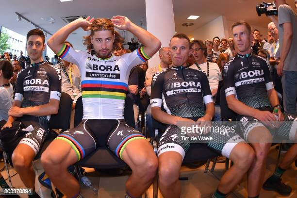 104th Tour de France 2017 / PC Team BORA hansgrohe Rafal MAJKA / Maciej BODNAR / Peter SAGAN / Emanuel BUCHMANN / Press Conference/ Team BORA...