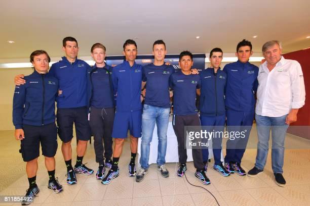 104th Tour de France 2017 / PC Team MOVISTAR Adriano MALORI / Eusebio UNZUE Manager Team Movistar / Nairo QUINTANA / Andrey AMADOR / Daniele BENNATI...