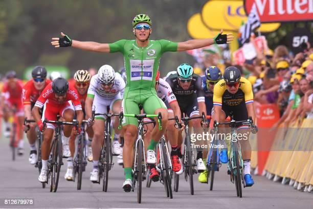 104th Tour de France 2017 / Stage 10 Arrival / Marcel KITTEL Green Sprint Jersey Celebration / Nacer BOUHANNI / John DEGENKOLB / Dylan GROENEWEGEN /...