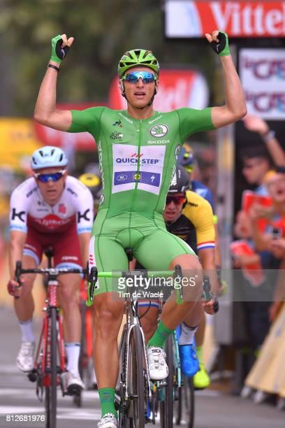 104th Tour de France 2017 / Stage 10 Arrival / Marcel KITTEL Green Sprint Jersey Celebration / John DEGENKOLB / Alexander KRISTOFF / Perigueux...