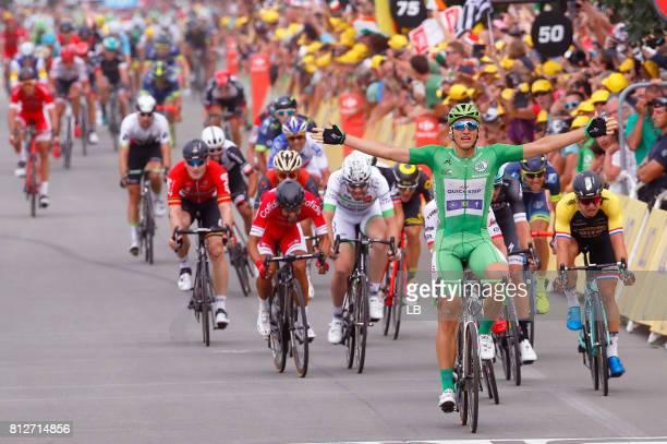 104th Tour de France 2017 / Stage 10 Arrival / Marcel KITTEL Green Sprint Jersey Celebration / Nacer BOUHANNI / John DEGENKOLB / Sonny COLBRELLI /...