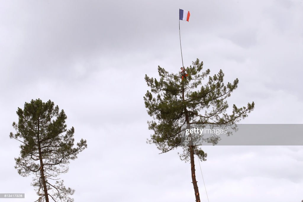 104th Tour de France 2017 / Stage 11 Public / Fan / Tree / Flag / Eymet - Pau (203,5km) / TDF /