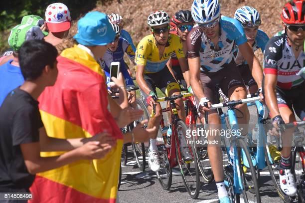 104th Tour de France 2017 / Stage 13 Fabio ARU Yellow Leader Jersey / Pierre LATOUR / Ben GASTAUER / Saint Girons Foix / TDF/