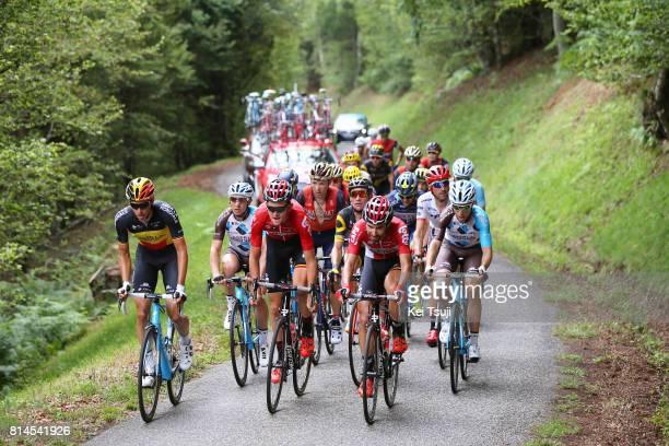 104th Tour de France 2017 / Stage 13 Oliver NAESEN / Tiesj BENOOT / Thomas DE GENDT / Peloton / Mur de Peguere / Landscape / Saint Girons Foix / TDF/