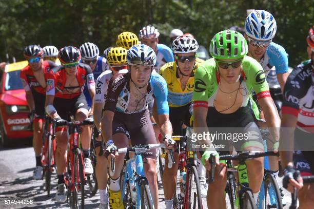 104th Tour de France 2017 / Stage 13 Pierre LATOUR / Fabio ARU Yellow Leader Jersey / Saint Girons Foix / TDF/