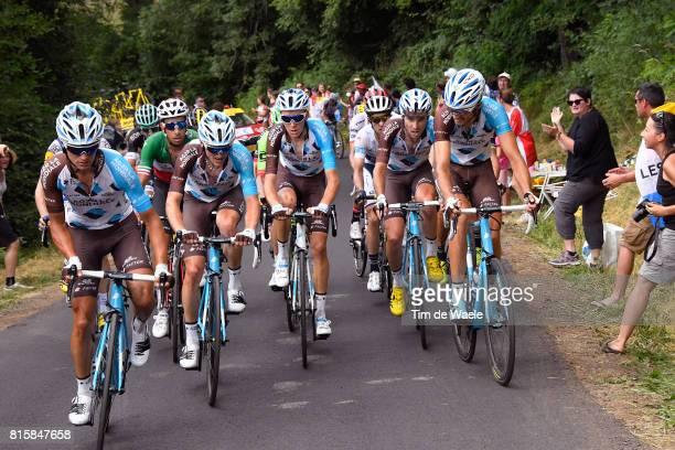 104th Tour de France 2017 / Stage 15 Alexis VUILLERMOZ / Mathias FRANK / Romain BARDET / Fabio ARU / Ben GASTAUER / Pierre LATOUR / Team AG2R La...