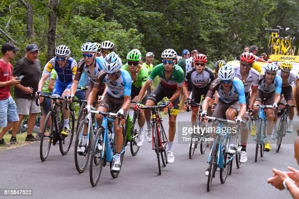 104th Tour de France 2017 / Stage 15 Alexis VUILLERMOZ / Romain BARDET / Fabio ARU / Alberto CONTADOR / Daniel MARTIN / Mikel LANDA MEANA / Rigoberto...