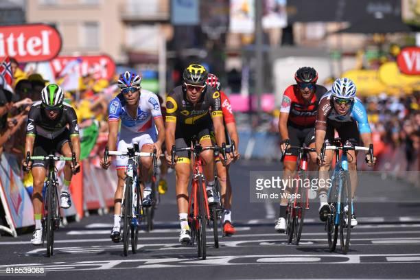 104th Tour de France 2017 / Stage 15 Arrival / Lilian CALMEJANE / Nicolas ROCHE / Sergio Luis HENAO / Thibaut PINOT / Serge PAUWELS / Laissac Severac...