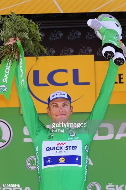 104th Tour de France 2017 / Stage 15 Arrival / Marcel KITTEL Green Sprint Jersey / Celebration / Laissac Severac l'Eglise Le Puy en Velay / TDF /