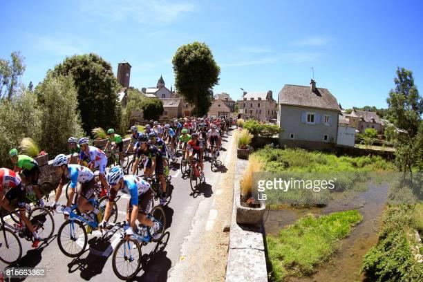 104th Tour de France 2017 / Stage 15 Peloton / Mathias FRANK / Pierre LATOUR / Saint Martin de Lenne City / Landscape / Laissac Severac l'Eglise Le...