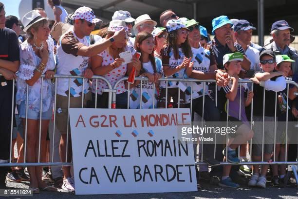104th Tour de France 2017 / Stage 15 Start / Romain BARDET / Pierre LATOUR / Fans / Public / Children / Team AG2R La Mondiale / Laissac Severac...