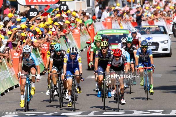 104th Tour de France 2017 / Stage 16 Arrival / Pierre LATOUR / Daniel MARTIN / Louis MEINTJES / Le Puy en Velay Romans sur Isere / TDF /