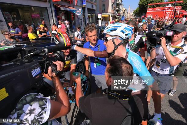 104th Tour de France 2017 / Stage 16 Arrival / Romain BARDET / Oliver NAESEN / Celebration / Le Puy en Velay Romans sur Isere / TDF /