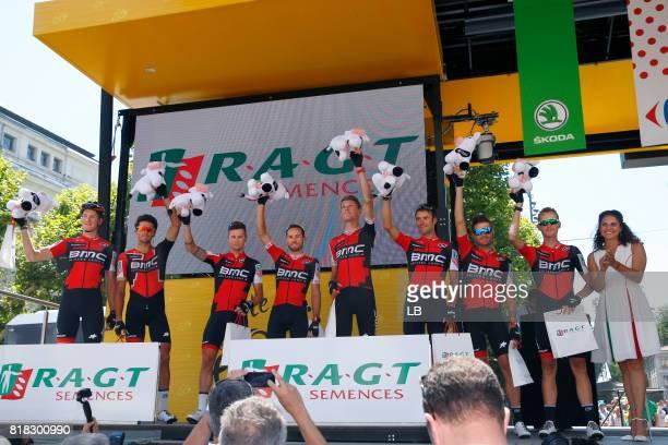 104th Tour de France 2017 / Stage 16 BMC Racing Team / Stefan KUNG / Greg VAN AVERMAET / Nicolas ROCHE / Danilo WYSS / Michael SCHAR / Amael MOINARD...