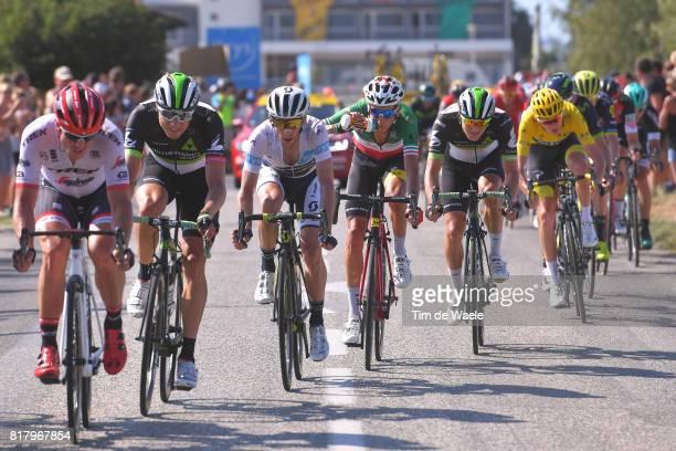 104th Tour de France 2017 / Stage 16 John DEGENKOLB / Edvald BOASSON HAGEN / Simon YATES Best White Young Jersey /Fabio ARU / Christopher FROOME...