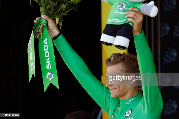 104th Tour de France 2017 / Stage 16 Podium / Marcel KITTEL Green Sprint Jersey / Celebration / Le Puy en Velay Romans sur Isere / TDF /