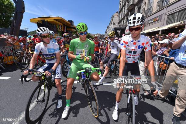 104th Tour de France 2017 / Stage 16 Start / Simon YATES Best White Young Jersey / Marcel KITTEL Green Sprint Jersey / Warren BARGUIL Polka Dot...