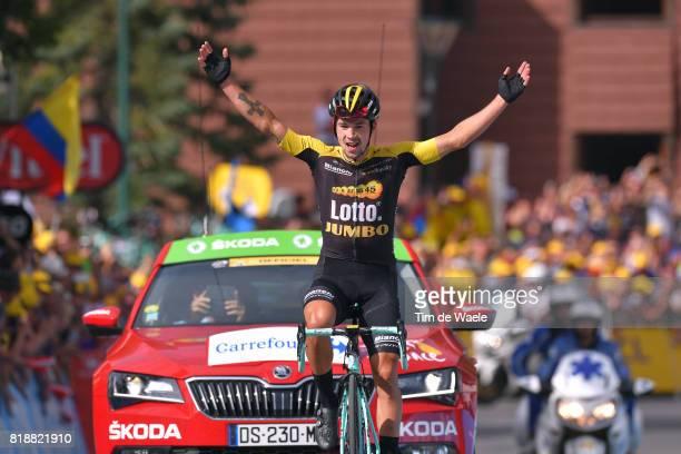 104th Tour de France 2017 / Stage 17 Arrival / Primoz ROGLIC / Celebration / La Mure Serre Chevalier / TDF /