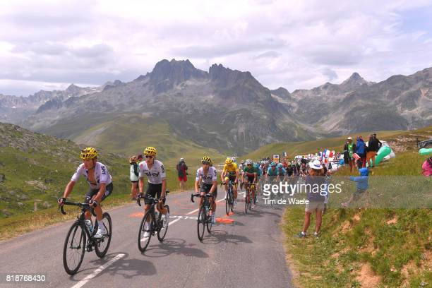 104th Tour de France 2017 / Stage 17 Landscape / Vasil KIRYIENKA / Michal KWIATKOWSKI / Mikel LANDA MEANA / Christopher FROOME Yellow Leader Jersey /...