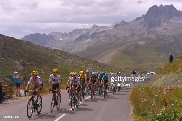104th Tour de France 2017 / Stage 17 Vasil KIRYIENKA / Michal KWIATKOWSKI / Mikel LANDA MEANA / Christopher FROOME Yellow Leader Jersey / Fabio ARU /...