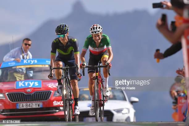 104th Tour de France 2017 / Stage 18 Arrival / Carlos BETANCUR / Fabio ARU / Briancon IzoardCol d'Izoard 2360m / TDF /