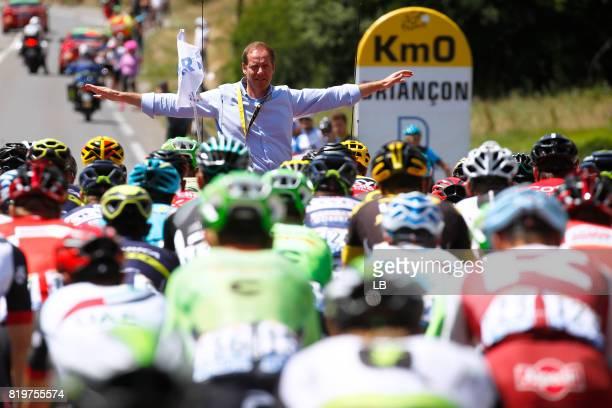 104th Tour de France 2017 / Stage 18 Christian PRUDHOMME TDF Director ASO / Neutral Start / Kilometer 0 / Peloton / Briancon IzoardCol d'Izoard 2360m...