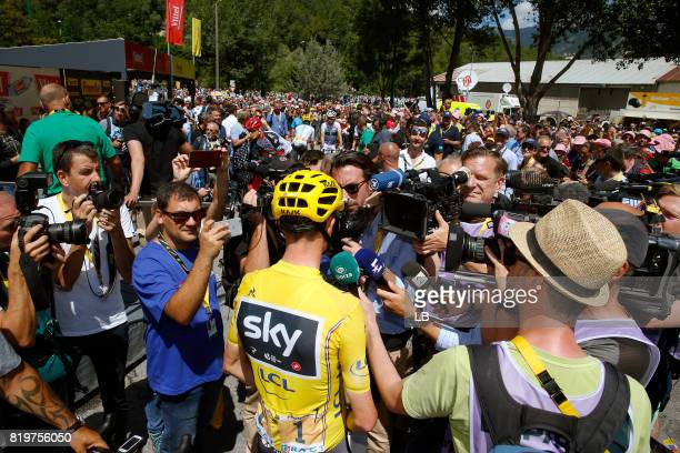 104th Tour de France 2017 / Stage 18 Christopher FROOME Yellow Leader Jersey / Interview / Press / Media / Briancon IzoardCol d'Izoard 2360m / TDF /
