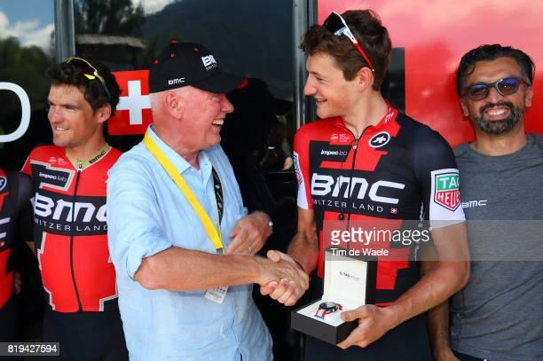 104th Tour de France 2017 / Stage 18 Jean Claude BIVER CEO TAG Heuer / Fabio BALDATO Sportsdirector / Damiano CARUSO / Greg VAN AVERMAET / Stefan...