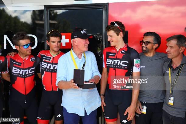 104th Tour de France 2017 / Stage 18 Jean Claude BIVER CEO TAG Heuer / Fabio BALDATO Sportsdirector / LEDANOIS Yvon Sportsdirector / Damiano CARUSO /...