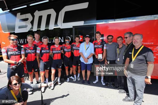 104th Tour de France 2017 / Stage 18 Jean Claude BIVER CEO TAG Heuer / Fabio BALDATO Sportsdirector / LEDANOIS Yvon Sportsdirector / Jim OCHOWICZ BMC...