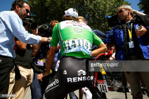104th Tour de France 2017 / Stage 18 Michael MATTHEWS Green Sprint Jersey / Renson / Interview / Press / Media / Briancon IzoardCol d'Izoard 2360m /...