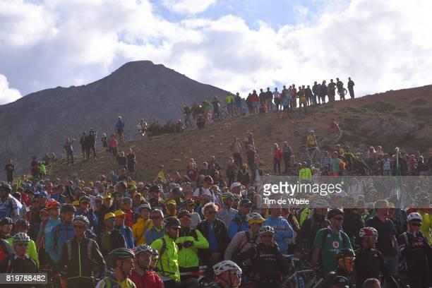 104th Tour de France 2017 / Stage 18 Public / Fans / IzoardCol d'Izoard Mountains / Landscape / Briancon IzoardCol d'Izoard 2360m / TDF /