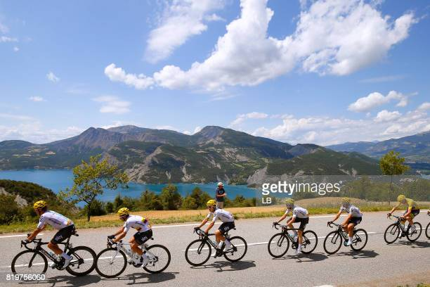 104th Tour de France 2017 / Stage 18 Vasil KIRYIENKA / Sergio Luis HENAO / Christian KNEES / Mikel NIEVE ITURALDE / Mikel LANDA MEANA / Christopher...