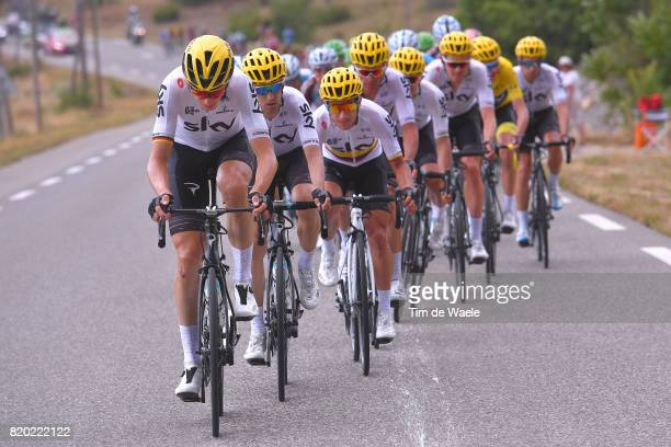 104th Tour de France 2017 / Stage 19 Christopher FROOME Yellow Leader Jersey / Sergio Luis HENAO / Vasil KIRYIENKA / Christian KNEES / Michal...