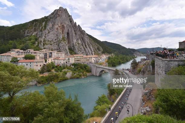 104th Tour de France 2017 / Stage 19 Landscape / Christopher FROOME Yellow Leader Jersey / SISTERON City / Peloton / Embrun Salon de Provence / TDF /